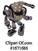 Robot Clipart #1671686 by Leo Blanchette