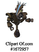 Robot Clipart #1672957 by Leo Blanchette