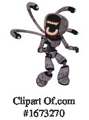 Robot Clipart #1673270 by Leo Blanchette