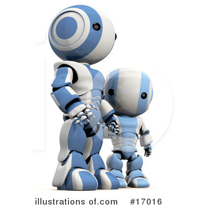 Robot Clipart #17016 by Leo Blanchette