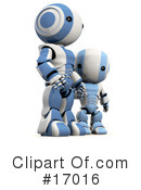 Royalty-Free (RF) robot Clipart Illustration #17016