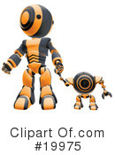 Royalty-Free (RF) Robot Clipart Illustration #19975