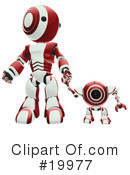 Royalty-Free (RF) Robot Clipart Illustration #19977