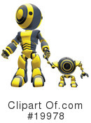 Royalty-Free (RF) Robot Clipart Illustration #19978