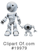 Royalty-Free (RF) robot Clipart Illustration #19979