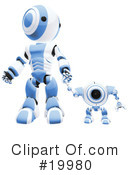 Royalty-Free (RF) Robot Clipart Illustration #19980