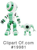 Royalty-Free (RF) Robot Clipart Illustration #19981