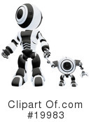 Royalty-Free (RF) Robot Clipart Illustration #19983