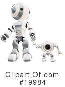 Royalty-Free (RF) robot Clipart Illustration #19984