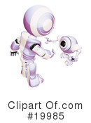 Royalty-Free (RF) Robot Clipart Illustration #19985
