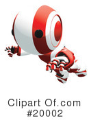 Robot Clipart #20002 by Leo Blanchette