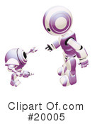 Royalty-Free (RF) Robot Clipart Illustration #20005