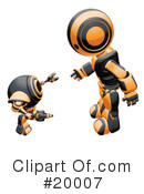 Royalty-Free (RF) Robot Clipart Illustration #20007