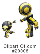 Royalty-Free (RF) Robot Clipart Illustration #20008