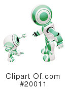 Royalty-Free (RF) Robot Clipart Illustration #20011