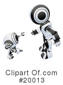 Royalty-Free (RF) Robot Clipart Illustration #20013