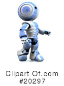 Robot Clipart #20297 by Leo Blanchette