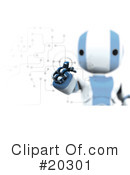 Robot Clipart #20301 by Leo Blanchette