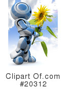 Royalty-Free (RF) robot Clipart Illustration #20312