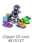 Royalty-Free (RF) Robot Clipart Illustration #215127