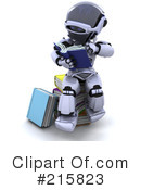 Royalty-Free (RF) Robot Clipart Illustration #215823