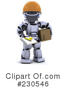 Royalty-Free (RF) Robot Clipart Illustration #230546