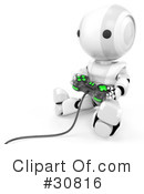 Robot Clipart #30816 by Leo Blanchette