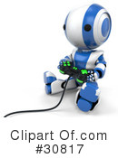 Robot Clipart #30817 by Leo Blanchette
