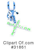 Royalty-Free (RF) Robot Clipart Illustration #31861