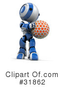 Robot Clipart #31862 by Leo Blanchette