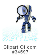 Robot Clipart #34597 by Leo Blanchette