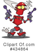 Royalty-Free (RF) Robot Clipart Illustration #434864