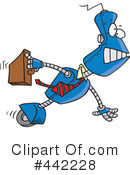 Royalty-Free (RF) robot Clipart Illustration #442228