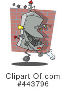 Royalty-Free (RF) Robot Clipart Illustration #443796