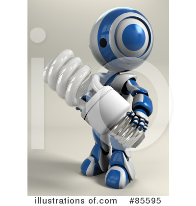 Royalty-Free (RF) Robot Clipart Illustration by Leo Blanchette - Stock Sample #85595
