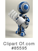 Royalty-Free (RF) Robot Clipart Illustration #85595