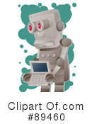 Royalty-Free (RF) Robot Clipart Illustration #89460