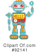 Royalty-Free (RF) robot Clipart Illustration #92141
