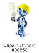 Royalty-Free (RF) Robot Clipart Illustration #98858