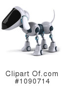 Royalty-Free (RF) Robot Dog Clipart Illustration #1090714