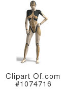 Robot Woman Clipart #1074716 by Ralf61