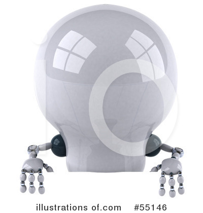 Light Bulb Robot Clipart #55146 by Julos