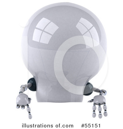 Light Bulb Robot Clipart #55151 by Julos