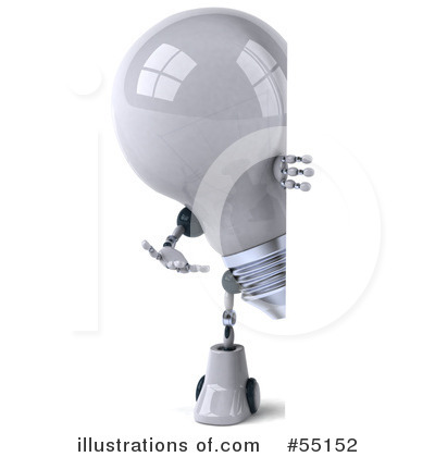 Light Bulb Robot Clipart #55152 by Julos