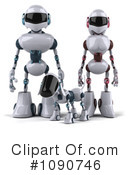 Royalty-Free (RF) robots Clipart Illustration #1090746
