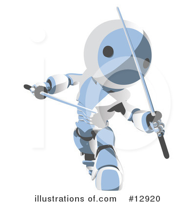 Royalty-Free (RF) Robots Clipart Illustration by Leo Blanchette - Stock Sample #12920