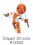 Royalty-Free (RF) Robots Clipart Illustration #12922