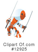 Robots Clipart #12925 by Leo Blanchette