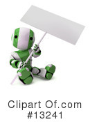 Royalty-Free (RF) Robots Clipart Illustration #13241