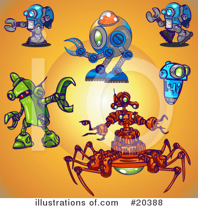 Robot Clipart #20388 by Tonis Pan